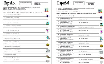 Spanish Nosotros Commands Question Response Sentences and Translations