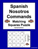 Spanish Nosotros Commands Irregular Verbs 2 Matching Squares Puzzles