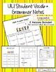 Avancemos 1 Unit 1 Lesson 1 Student Handouts & Notes - SER, GUSTAR