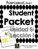 Avancemos 1 Unit 6 Lesson 1 - Student Handouts & Notes - Sports