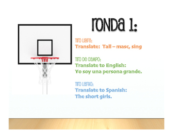 Spanish Noun Adjective Agreement Basketball