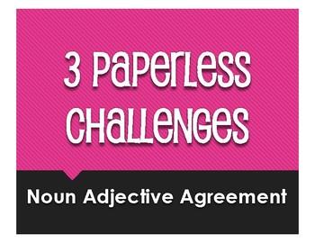 Spanish Noun Adjective Agreement Paperless Challenges