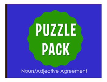 Spanish Noun Adjective Agreement Stations