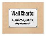Spanish Noun Adjective Agreement Wall Charts