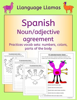 Spanish Numbers, Parts of the Body, Colors - noun adjective agreement