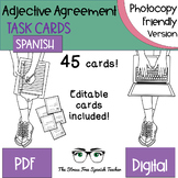 Spanish Nouns / Adjective Agreement Task Cards, 45 Cards! PHOTOCOPY FRIENDLY