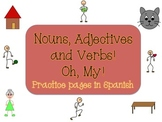 Spanish Nouns, Adjectives and Verbs (Practice Pages)