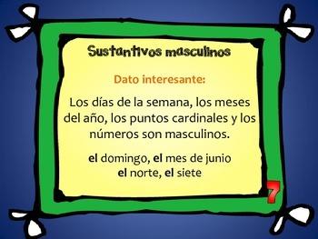 Spanish: Nouns (Clasificación de sustantivos)