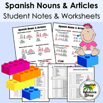 Spanish Nouns and Articles Grammar Notes