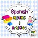 Spanish Nouns and Articles Grammar Notes and Practice Powerpoint BUNDLE