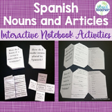Spanish Nouns and Articles Interactive Notebook Activities