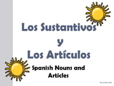 Spanish Nouns and Articles PowerPoint Presentation