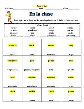 Spanish: Nouns in the classroom