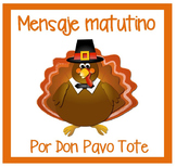 Spanish November Message Writing for Dual Language 1st, 2n