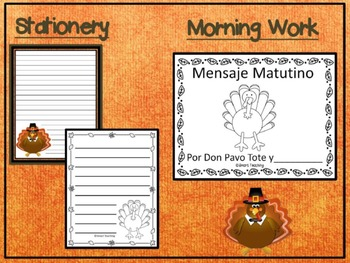 Spanish November Message Message - Writing for Dual Language