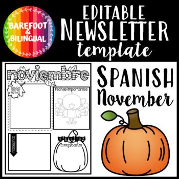 Spanish November Newsletter
