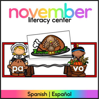 Spanish: November Theme Syllable Learning Station