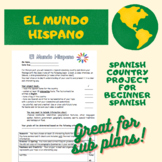 Spanish level 1 Country Project (los paises hispanos)/ Hispanic Heritage Project