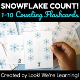 Snowflake Counting 1-10 Flashcards
