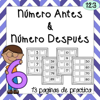Number Before and Number After {NO PREP} Packet! - Spanish