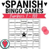 Spanish Numbers 1 - 100 - Spanish Bingo and Vocabulary Lis