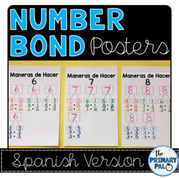 Spanish Number Bond Posters