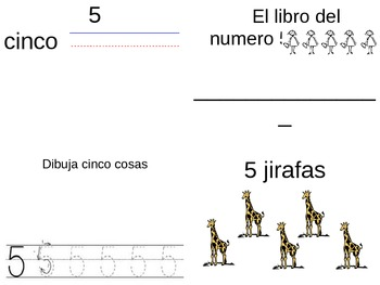 Spanish Number Books