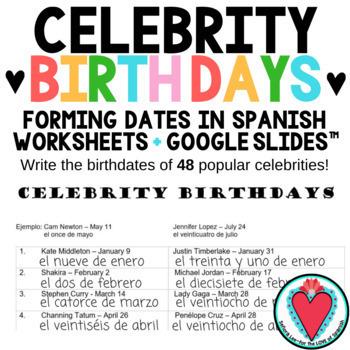 Spanish Bundle - Number Word Search, Crossword, Bingo & Celebrity Birthdays!