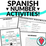 Spanish Numbers Activities - Bundle