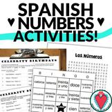 Spanish Numbers Activities - Bundle