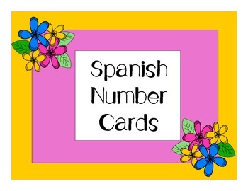 Spanish Number Cards (1-10)