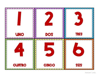 Spanish Number Cards & Floor Numbers