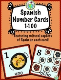 Spanish Number Cards Posters 0-20 PLUS 30-100 by Tens Spain Culture Set