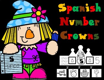 Spanish Number Crowns:  Autumn Numbers 1-10