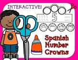 Spanish Number Crowns:  Coronas de numeros