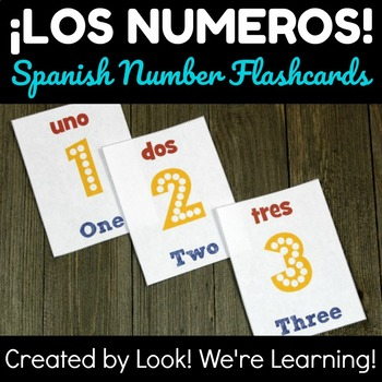 Spanish Number Flashcards 1-20 - ¡Los Numeros!