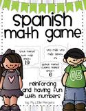 Spanish Number Game Más y Menos
