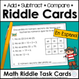 Spanish Number Logic Riddles for Two-Digit Numbers ~ Pirates!