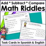 Number Logic Riddles for Two-Digit Numbers ~ Spanish/English Bundle