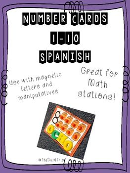 Spanish Number Mats 1-10