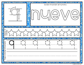 Spanish Number Mats