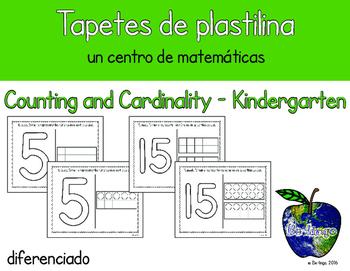 Spanish Number Mats/Tapetes de plastilina