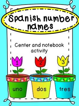 Spanish Number Names Center/ Reconociendo los nombres de l