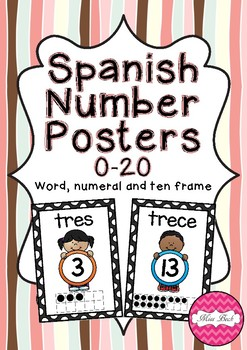 Spanish Number Posters 0-20