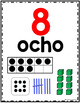 Spanish Number Posters 1-20 and Tens (30, 40, 50...)-Carteles de Numeros