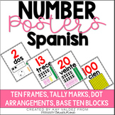 Spanish Number Posters 1-20 and Tens (30, 40, 50...)-Carte