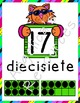 Los Números: Spanish Number Posters 0-20 with Ten Frames (Cats Theme)