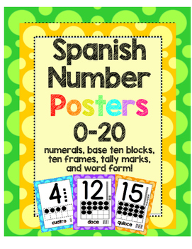 Spanish Number Posters