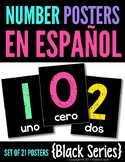 Spanish Number Posters {Black Series}