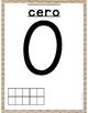 Spanish Number Posters - Burlap